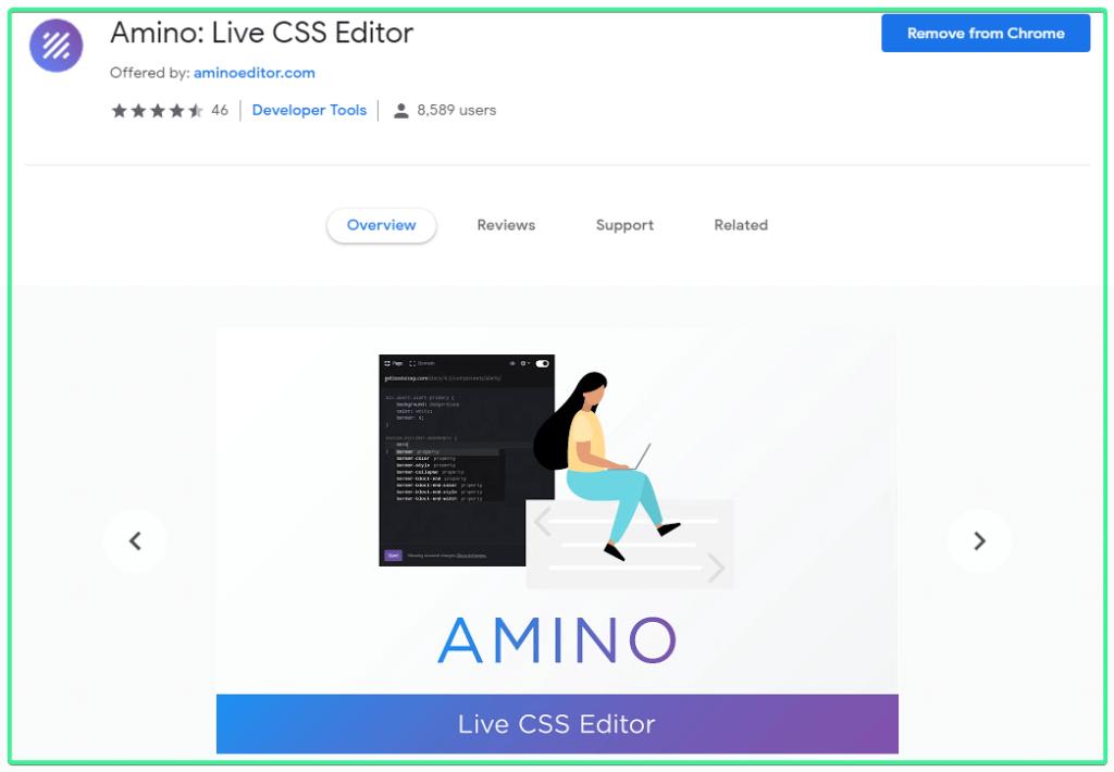 Amino-Live-CSS-Editor - Gtarafdar