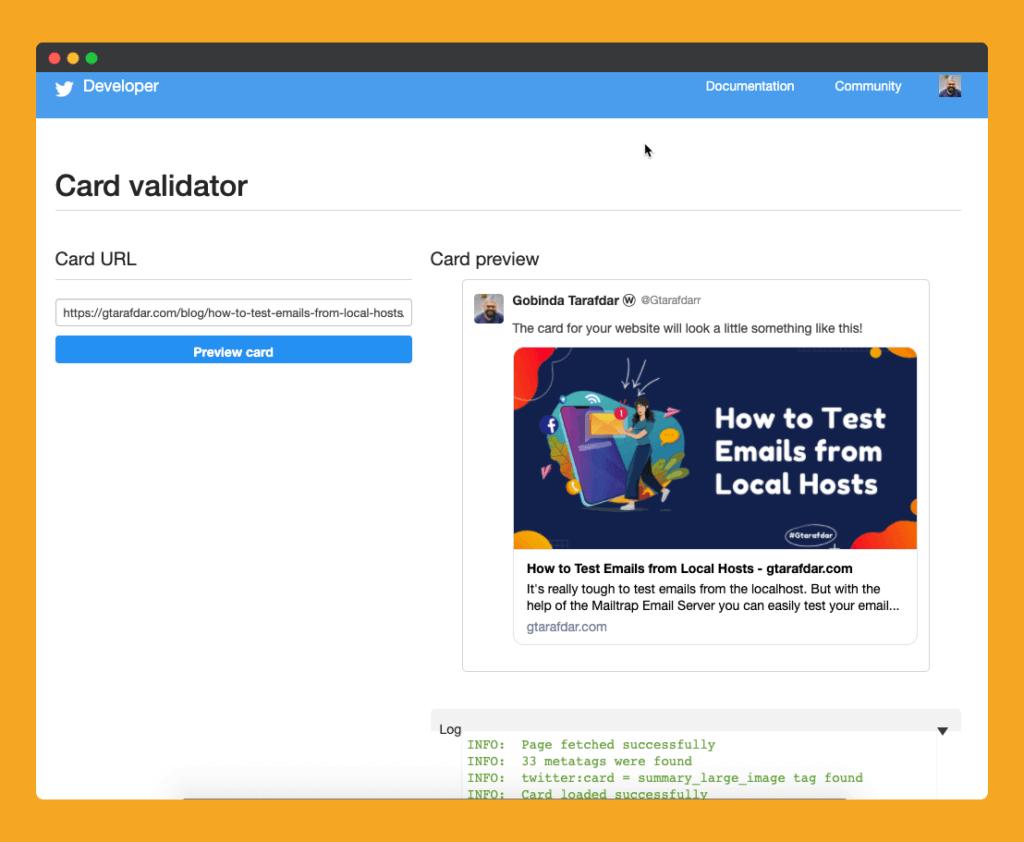 Twitter-Card-Validator-gtarafdar