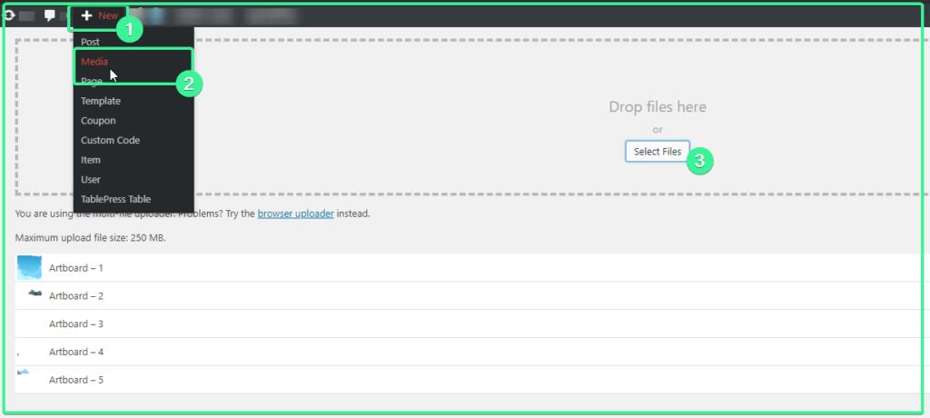 Uploading Media Files - Gtarafdar