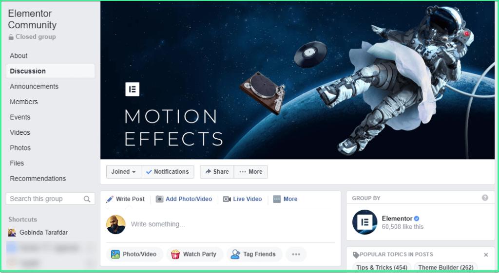 elementor-facebook-group gtarafdar
