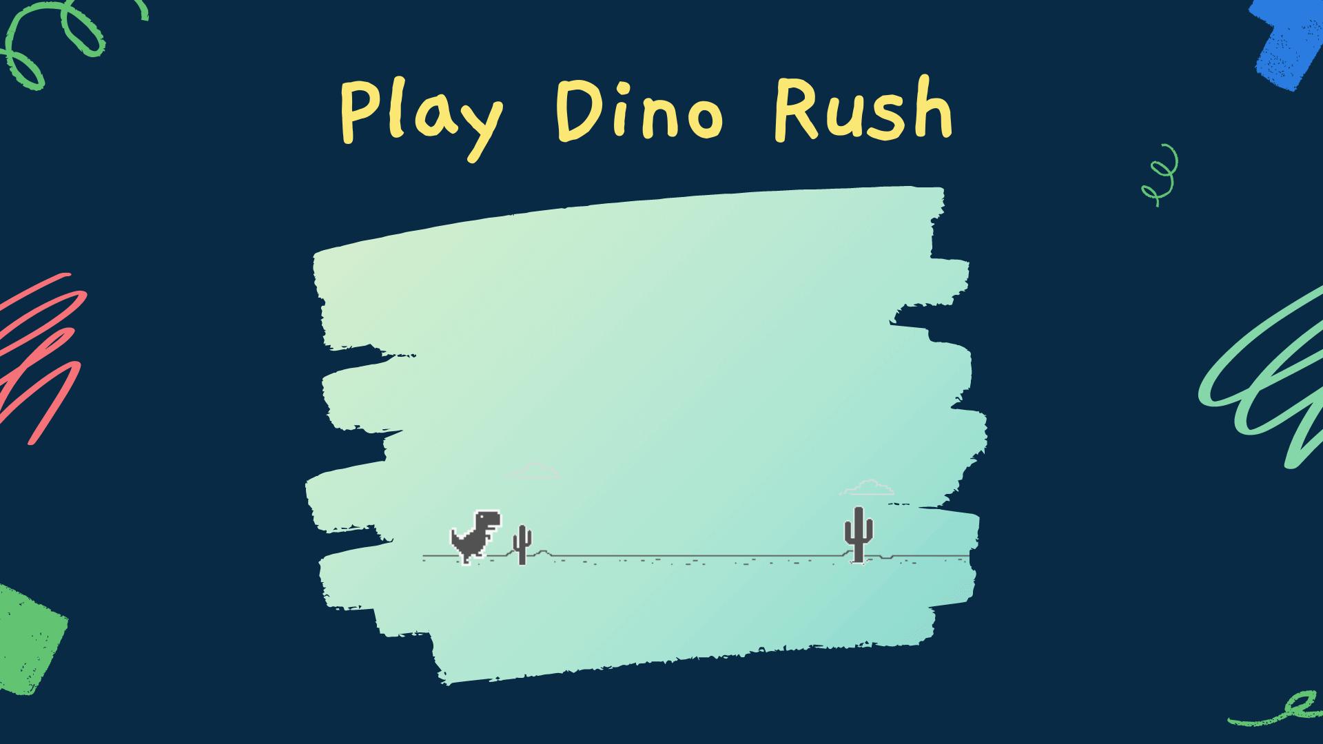 dino rush chrome game