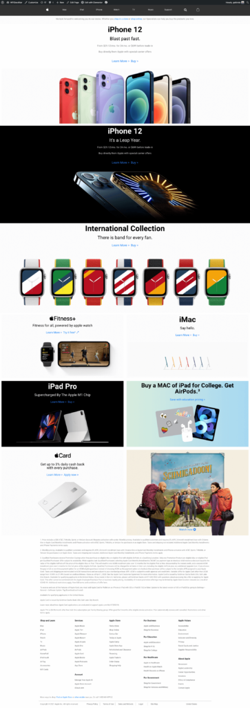 Replicating Apple Home Page final
