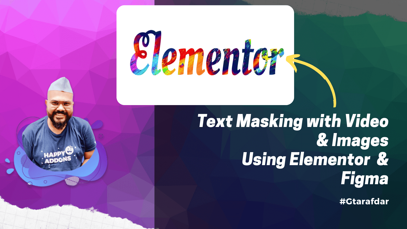 Text Masking with elementor